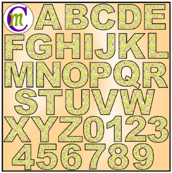 Alphabet Letters Clip Art Fun Swirl Yellows