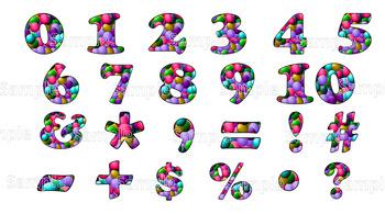 Alphabet Clip Art: Gumballs