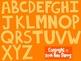 Alphabet Letters Clip Art:  Orange
