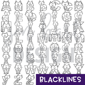 Alphabet Letters Clip Art - Owl Letters {jen hart Clip Art ...