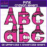 Alphabet Letters Clip Art - Pink Crayon Letters {jen hart