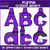 Alphabet Letters Clip Art - Purple Crayon Letters {jen har