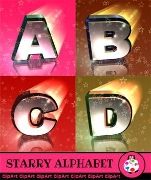 Alphabet Letters Clip Art Set
