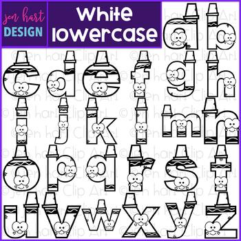Alphabet Letters Clip Art - White Crayon Letters {jen hart Clip Art}