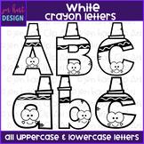 Alphabet Letters Clip Art - White Crayon Letters {jen hart