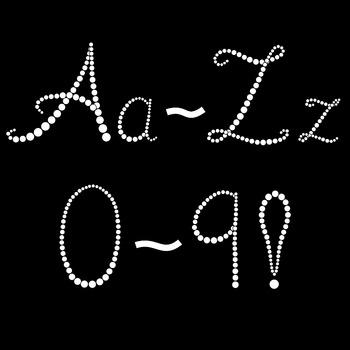 Alphabet Letters Clipart Elegant Beaded