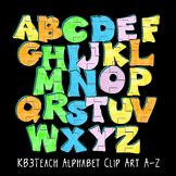 Alphabet Letters Clipart: Bubble Graffiti Art (Uppercase A-Z)