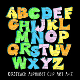 Alphabet Letters Clipart: Bubble Graffiti Art (Uppercase A-Z)