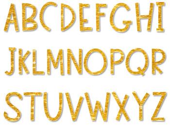 Alphabet Letters Clipart GLITTER