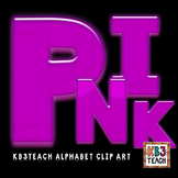 Alphabet Letters Clipart: Neon Glow Pink (Uppercase A-Z)