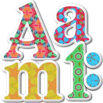 Alphabet Letters: Clipart  {Puffy Sticker - Set 001} COMMERCIAL USE