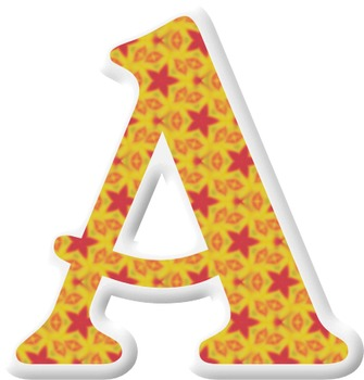 Alphabet Letters: Clipart  {Puffy Sticker - Set 002} COMMERCIAL USE