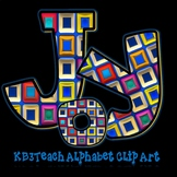 Alphabet Letters Clipart: Abstract Designs (Uppercase/Lowe