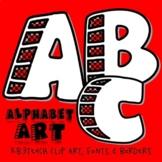 Alphabet Letters Clipart: Stone Blocks (Uppercase A-Z)