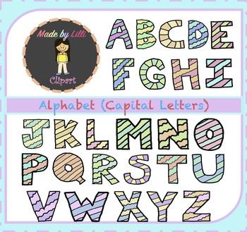 Alphabet Letters Clipart {Alphabet Clipart, Letters Clipart, Uppercase Clipart}