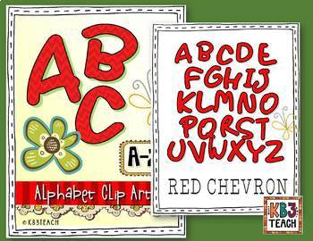 Alphabet Clipart: VALUE PACK (4 Sets)