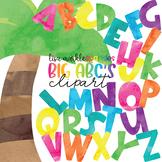 Alphabet Letters Clipart Watercolor