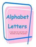 Alphabet Letters Color Sheets
