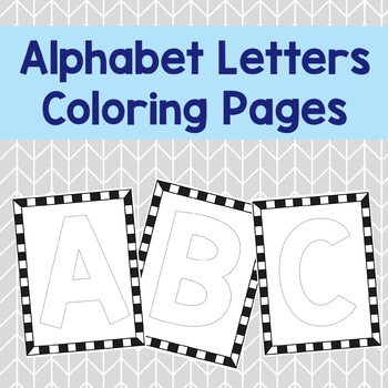 *Free* Alphabet Letters Coloring Pages