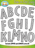 Alphabet Letters Dab-A-Dot Markers Graphics Clipart {Zip-A-Dee-Doo-Dah Designs}