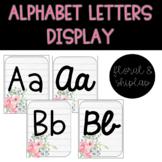 Alphabet Letters Display - Floral