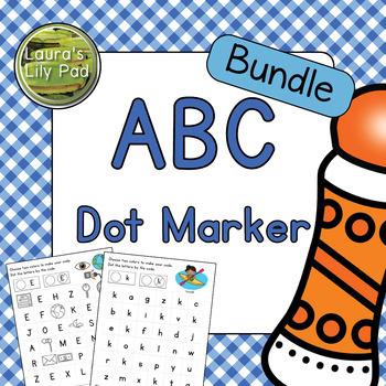 Alphabet Letters Dot Marker Center Bundle