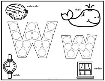 Alphabet Letters Dotting Activity