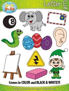 Alphabet Letters E Clipart {Zip-A-Dee-Doo-Dah Designs}