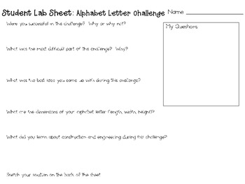 Alphabet Letters: Engineering Challenge Project ~ Great STEM Activity!