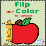 Alphabet Letters Flip and Color Apple Themed