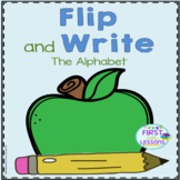 Alphabet Letters Flip and Write Apple Themed