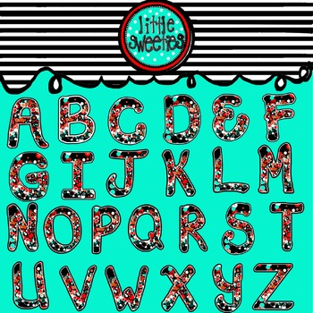 Alphabet/Letters/Font Back to School Dots UPPERCASE & LOWERCASE