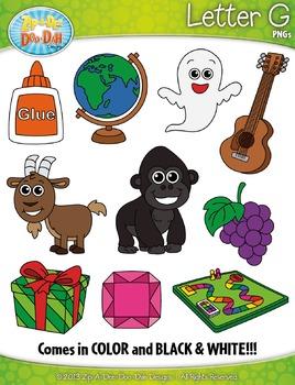 Alphabet Letters G Clipart Set — Includes 20 Graphics!