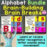 Alphabet Letters Letter Sounds with Brain Breaks Bundle Go