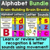 Alphabet Letters Letter Sounds with Brain Breaks Bundle Go
