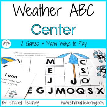 Alphabet Letters Match ~ It's Raining Letters