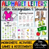 Alphabet Letters & Beginning Sounds (Worksheets, Activitie