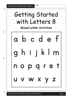 Alphabet Letters Mixed Activities (29 pages)