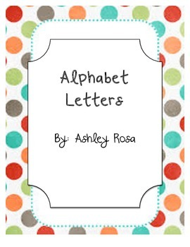 Alphabet Letters Multi Polka Dot Decor