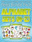 Alphabet Letters N-Z Clipart Mega Bundle {Zip-A-Dee-Doo-Dah Designs}