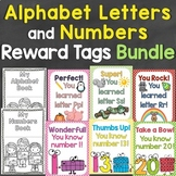 Alphabet Letters & Numbers Reward Tags Bundle Tags for Eac