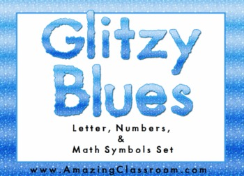 Glitter Alphabet Letters, Numbers, and Math Symbols Set