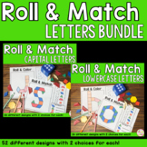 Alphabet Letters Pattern Blocks Mat Roll and Match Game Bundle