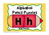 Alphabet Letters Pencil Puzzles
