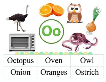 Alphabet Letters Phonics - Visual Vocabulary