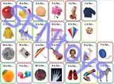 Alphabet Letters Photo Flash Cards. Autism Aspergers ABA R