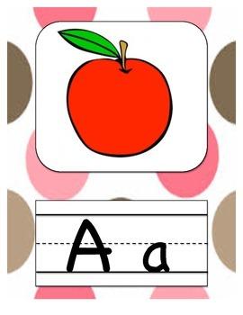 Alphabet Letters Pink Polka Dot Decor