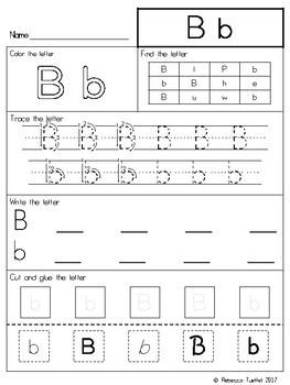 Alphabet Letters Practice Pages