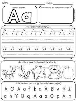 Alphabet & Letters Practice Pages {A-Z Letters & Sounds Practice}