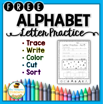 Alphabet Letters Practice Pages FREE Sample